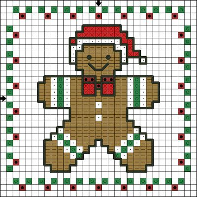 Killer Crafts & Crafty Killers: CRAFTS WITH ANASTASIA--GINGERBREAD CROSS STITCH ORNAMENT