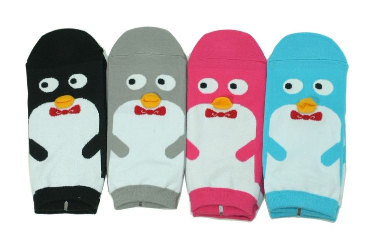 Penguin Character Socks 4Pairs Color Women Unisex Kids Cute Novelty Funny Gift #GGORANGNAE #Casual#CharacterSocks #women #Kid #Girl #Lady #Funny #Novelty #Pattern