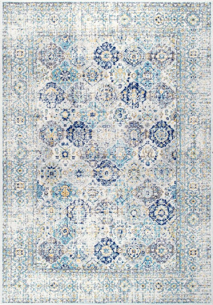 How beautiful are the colors in this Rugs USA Bosphorus BD72 Faded Honeycomb Trellis Rug?!