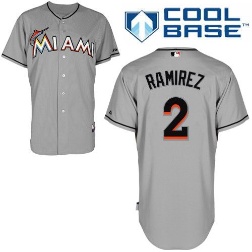 Miami Marlins #2 Hanley Ramirez Grey 2012 Road Cool Base Youth MLB Stitched  Jersey http