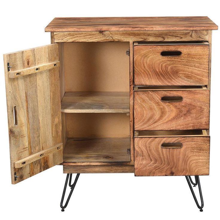 Introducing the Jaydo cabinet from !nspire. It's made from sustainable mango wood with a natural burnt finish, and the cast iron hairpin legs are both sturdy and unique!  http://worldwidehomefurnishingsinc.com/jaydo-cabinet-in-natural-burnt.html