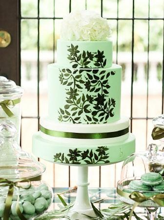 forest green wedding cake mint and forest green nature inspired wedding cake 14405
