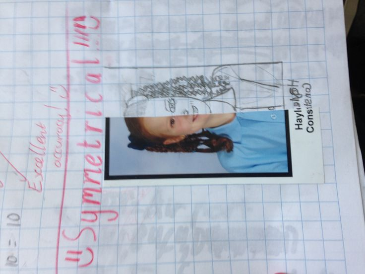 Symmetry using students' start-of-the-year school photos: www.toptenresources.com - a full year of math lessons created by teachers 4 teachers
