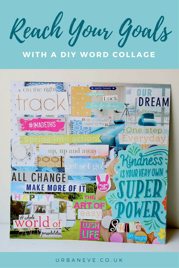 Create a word collage to help you with your goals. Here's how!