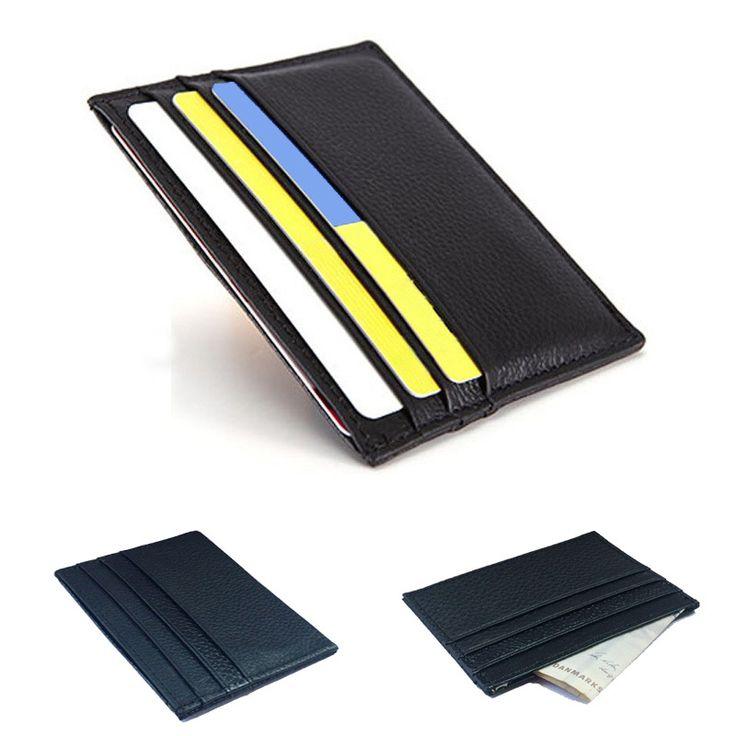 Genuine Leather Credit Card Holder Card Case Card & ID Holders Men wallets Women