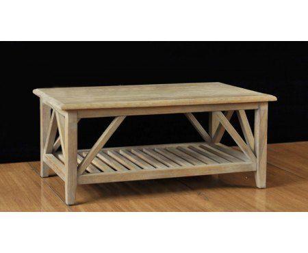 Piękny dębowy stolik kawowy Donato wykonany z litego drewna