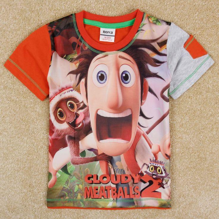 Новинка детская одежда нова бренда одежды отпечатанным фрикадельки лето новинка короткий рукав рубашки для мальчиков C5105