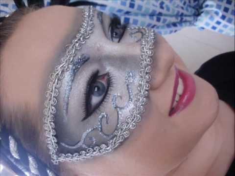 Masquerade Mask Made of Make up
