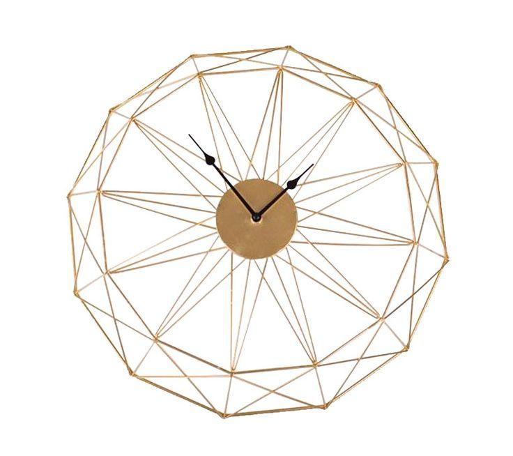 Zone Maison - geometric gold clock