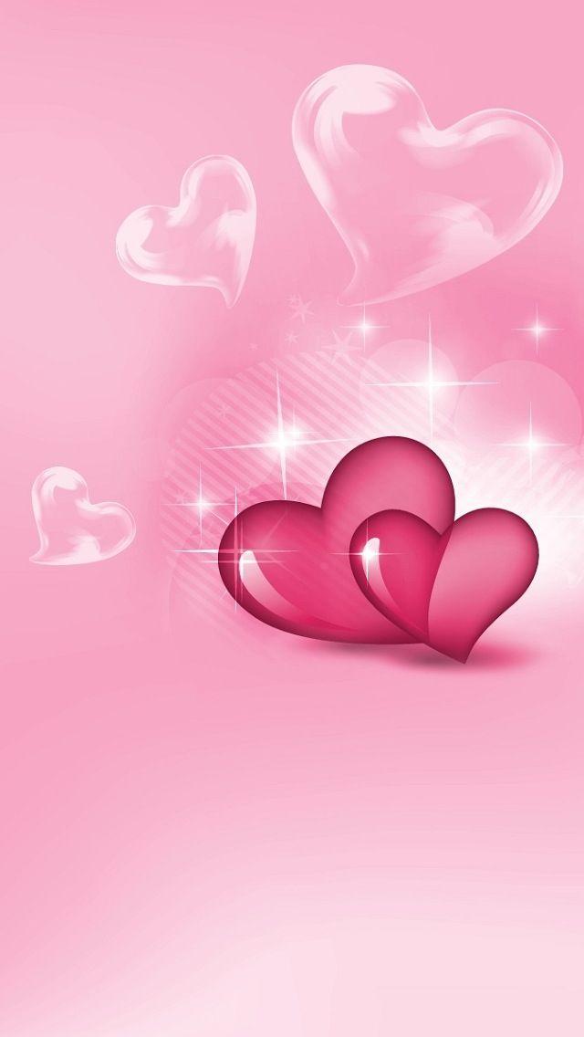 Pink Hearts iPhone 5 Wallpaper.