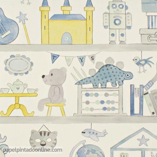 17 best images about papel pintado infantil summer camp on - Papel pintado infantil ...