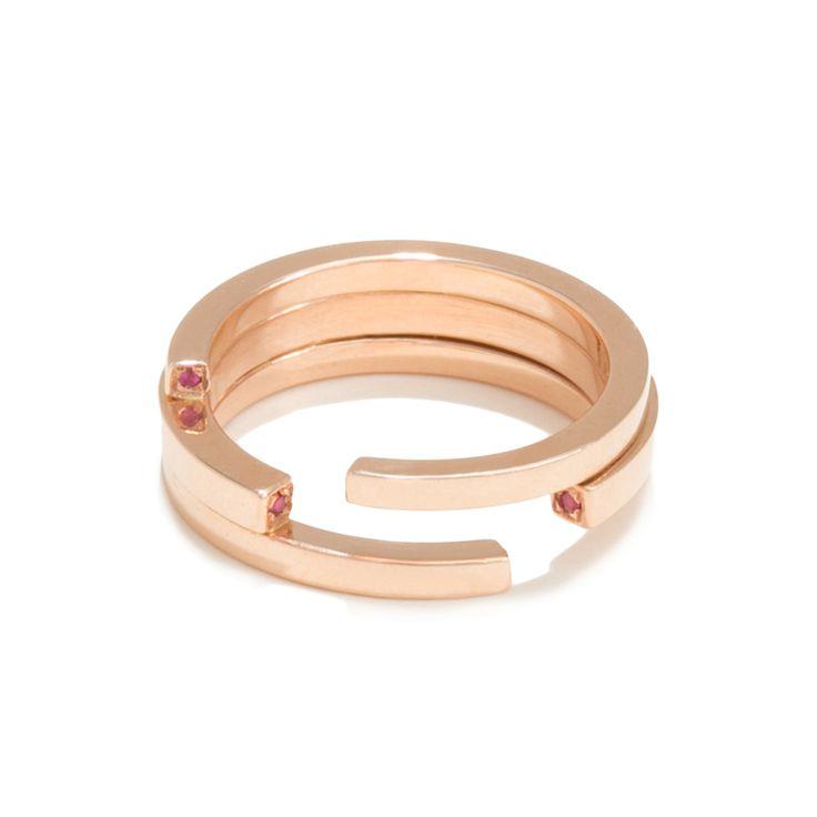 Ruby Mini Torque Ring - Tilda Biehn