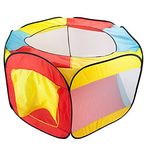 Hexagon Pop Up Ball Pit Tent With Mesh Netting And Carrying Case By Imagination Generation, 2015 Amazon Top Rated Play Tents & Tunnels #Toy