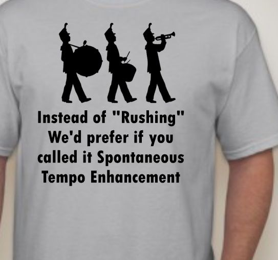 Marching Band - Rushing T-Shirt