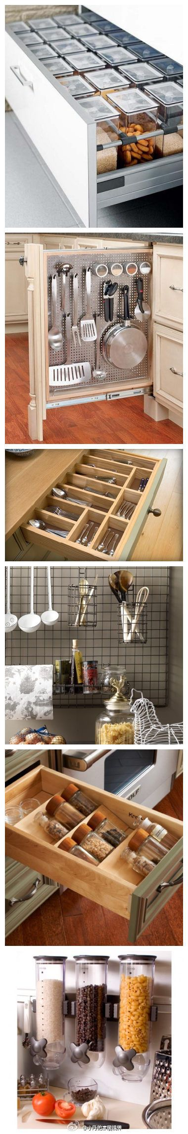 kitchen organization - use extra drawers for food storage containers (photo)