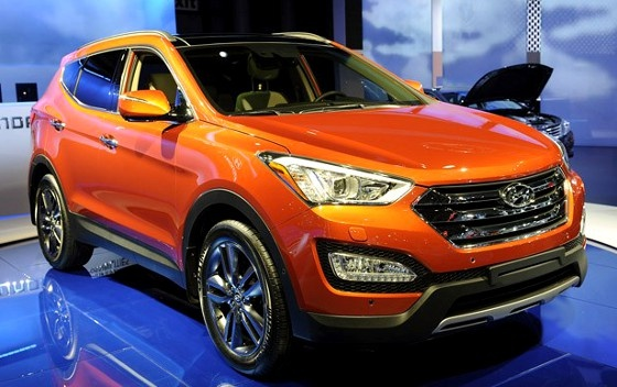 Hyundai Santa Fe. In orange