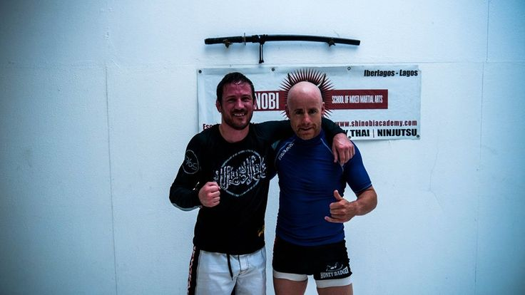 With John Kavanagh (SBGIreland) at the Shinobi Academy, Lagos, Portugal...on the mat with the coach of all coaches....