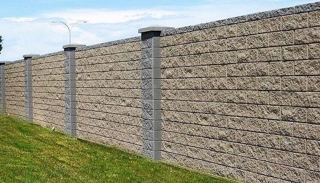 Precase Concrete Block Fence Stone Wall Design Fence Wall Design Concrete Block Walls