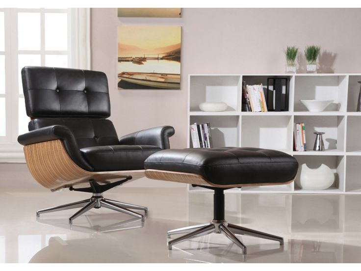 Relaxsessel Fernsehsessel Leder Archibald + Leder Fußhocker