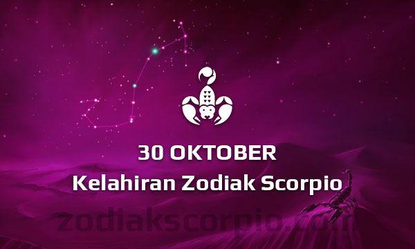 Zodiak Scorpio Lahir Tanggal 30 Oktober