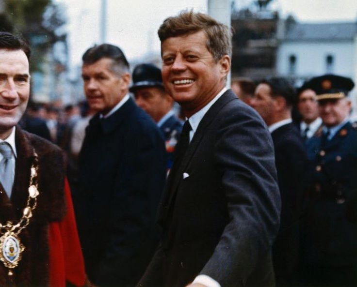 "john-fitzgerald-kennedy: ""President John F. Kennedy Arrives at Eyre Square in Galway, Ireland. 29 June 1963. """