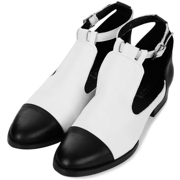 Topshop Katz Cut Out Strap Shoes White