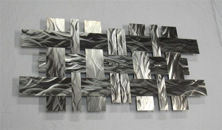 Contemporary Stainless Steel Metal Wall Sculpture