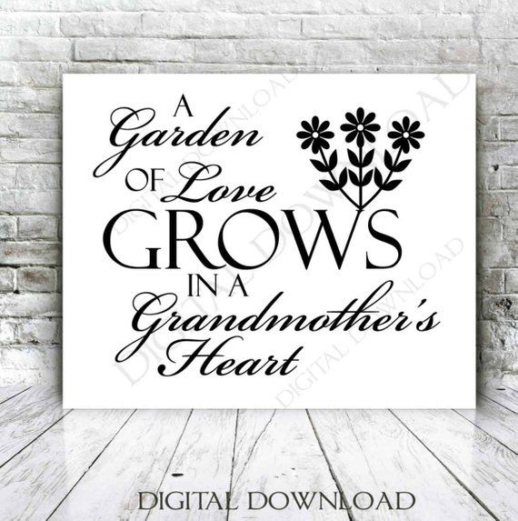 Grandmother Svg Quote Grandma Saying To Print Garden Of
