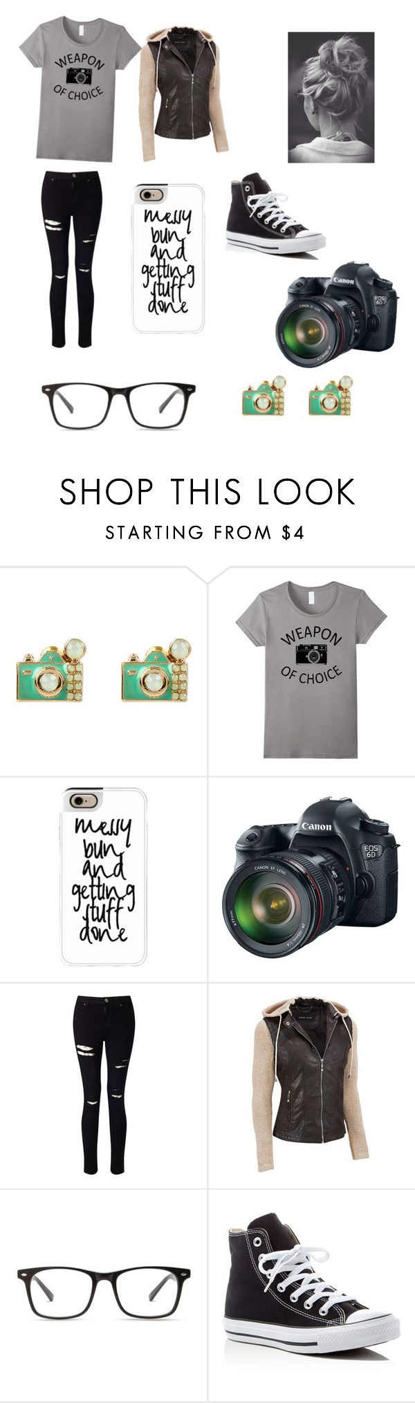 """""""Photographer Outfit"""" by percys-sister ❤ liked on Polyvore featuring Accessorize, Casetify, Eos, Miss Selfridge and Converse"""