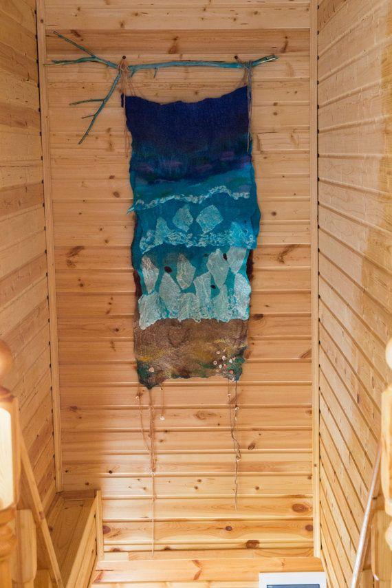 Валяное панно морская волна от RuMShandmade на Etsy