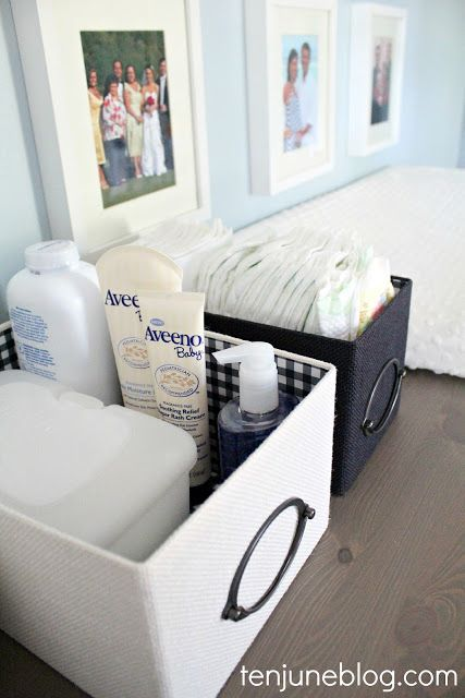 diaper changing supply baskets