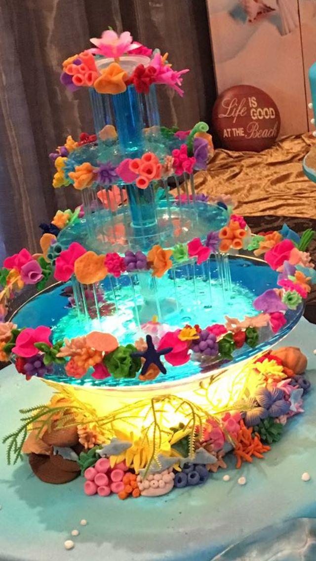 Tropical water fountain