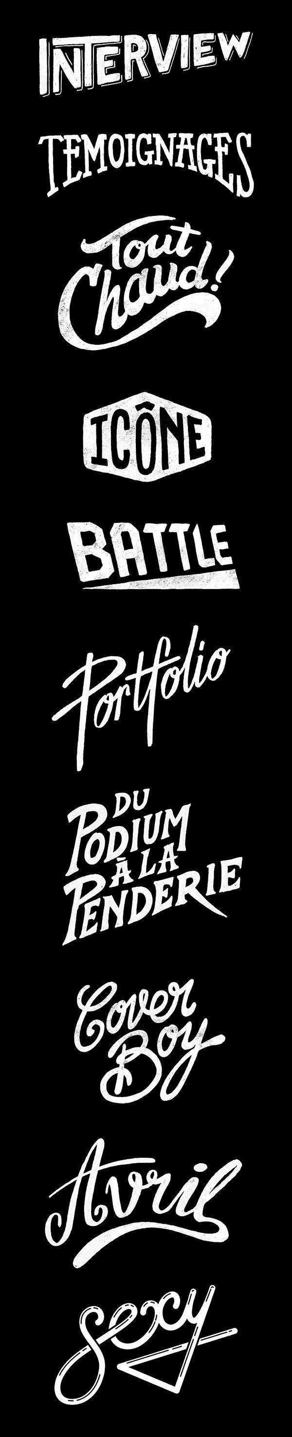 Hand lettering for french magazine Têtu.