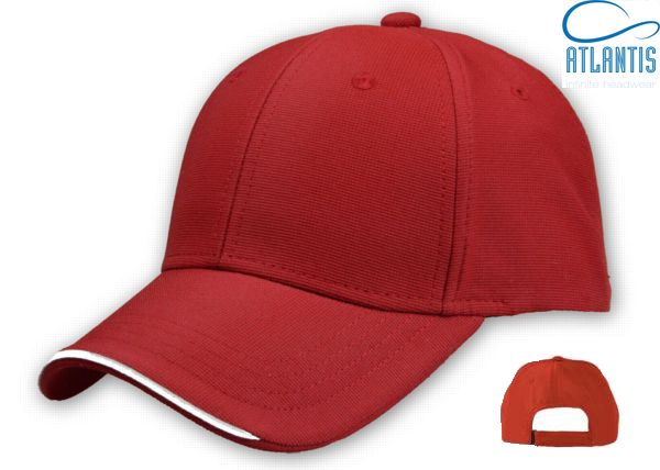 ESTORIL RED  Fabric: 100% miniottoman polyester  6 panels/ velcro closure/ polyester sweatband /piping/ embroidered eyelets /structured  front panel /precurved visor /4 stitchings on visor   discover more on : atlantis-caps.com   #caps #headwear #personalize #altantis #infinite #estoril