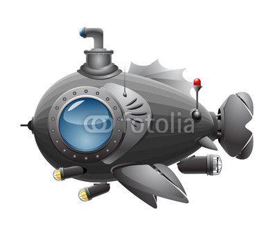 Vektor: fish boat
