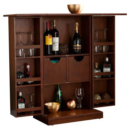 Wildon Home ® Boswell Bar Cabinet with Wine Storage
