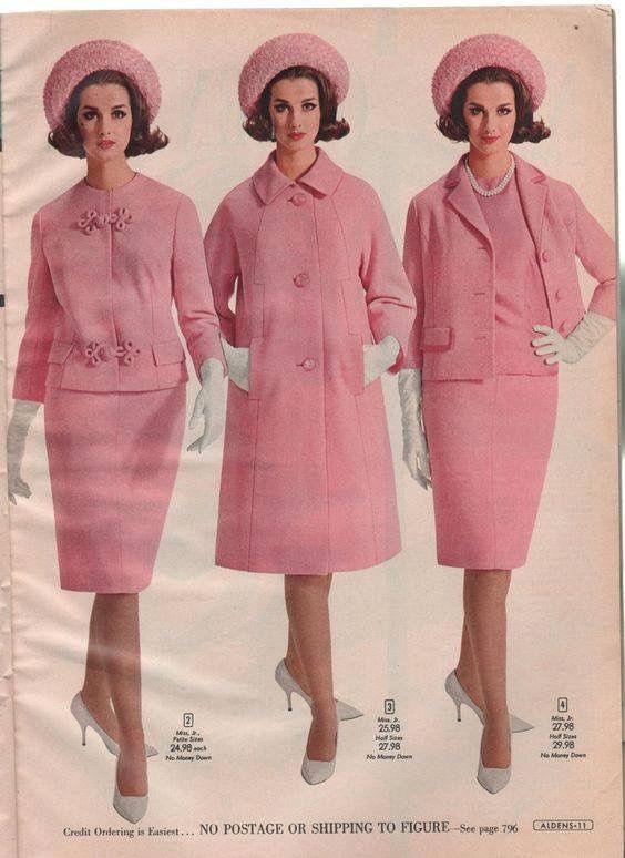 Veronica Hamel, Alden's 1965    She's dressed for tea with friends.   ebay, The Buttered Cat