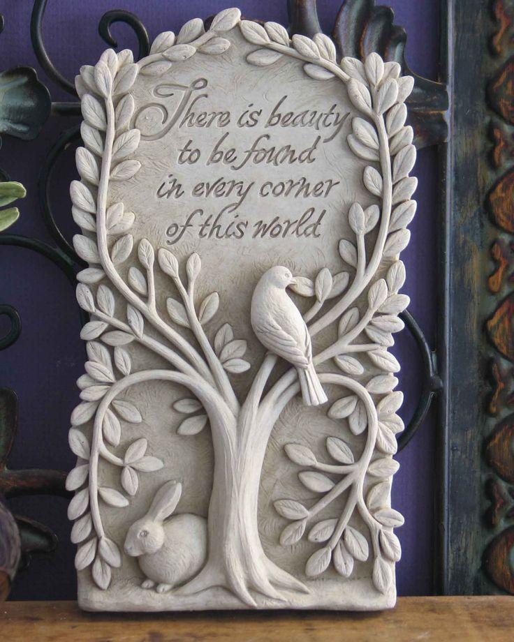 1088 Hidden Beauty #carruth #gift #beauty #plaque #sculpture #wall decor #housewarming #handmade #usa