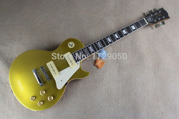 Factory Custom Musical Instrument  new One Piece Neck Standard 1956 Gold Top VOS Goldtop  P90 Pickups L Electric Guitar 725