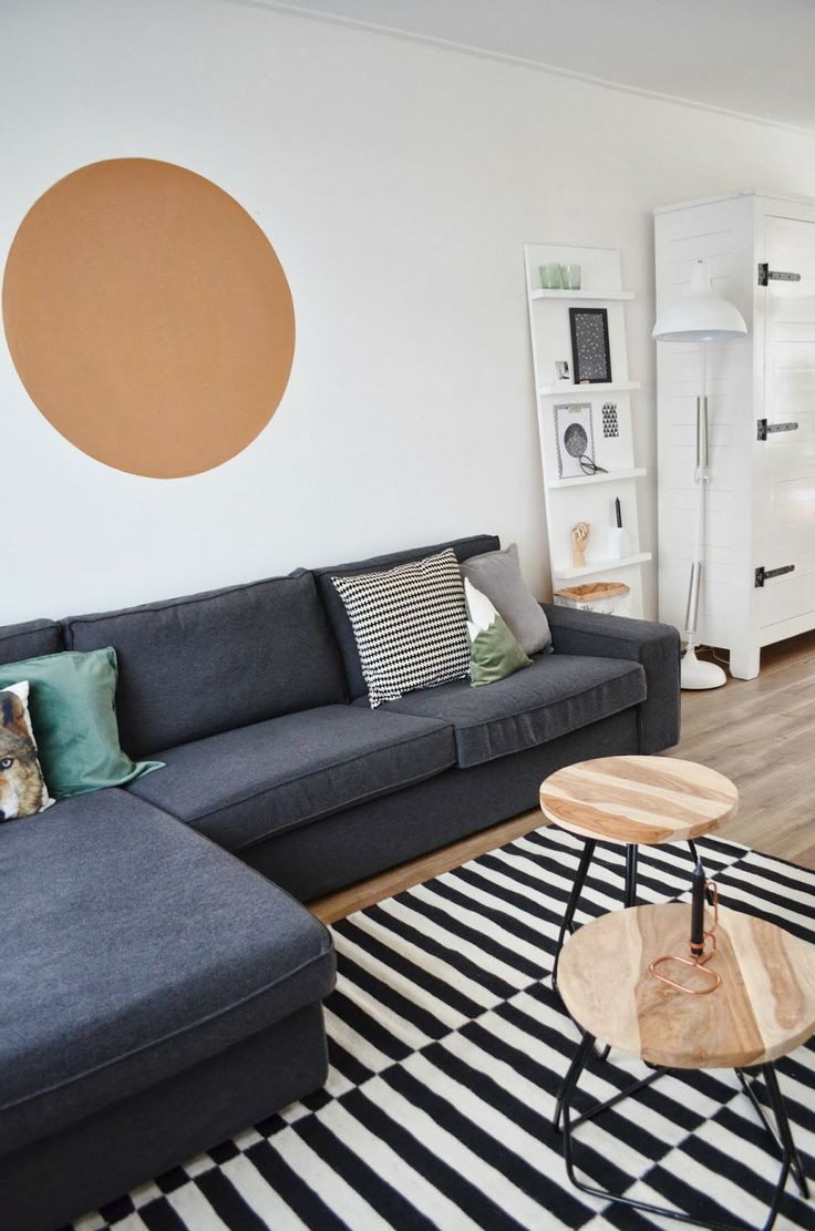 Gaaf idee van blogger Milou: een koperen cirkel op de muur #copper #diy