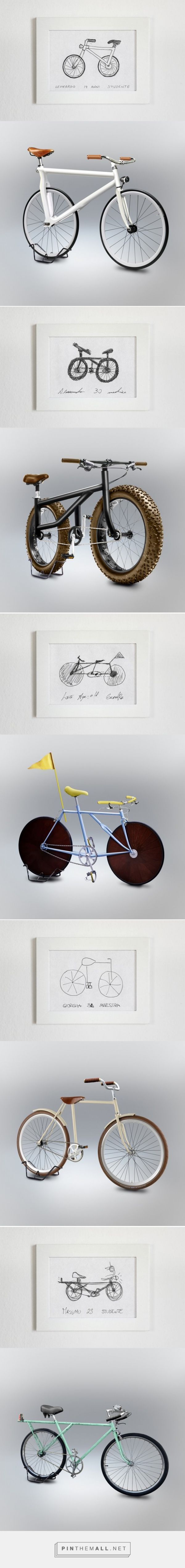 Lifelike mock-ups by Gianluca Gimini. Designed from flawed bicycle drawings made by his friends.