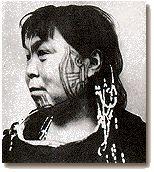 Eskimo woman with tattoos ,1954