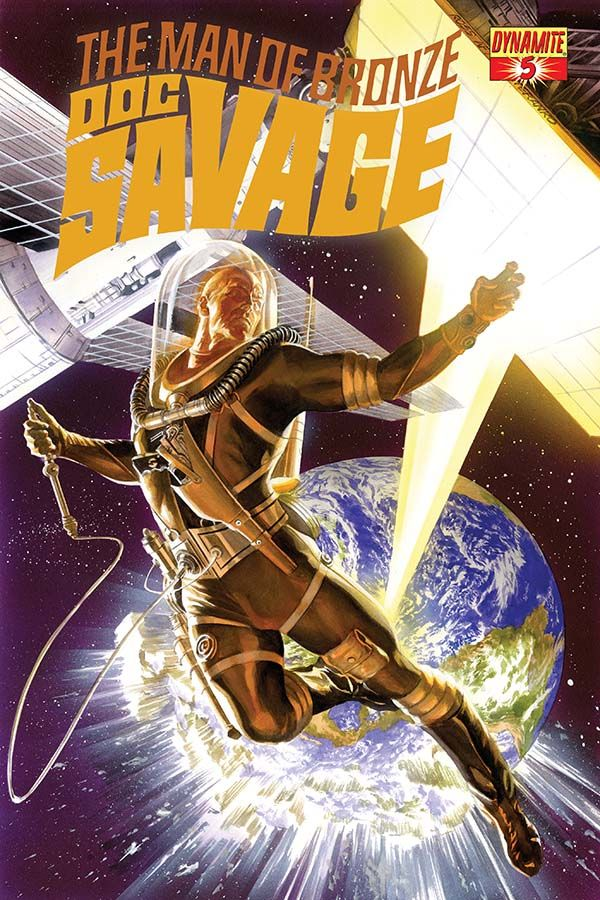 "Doc Savage #5 by Alex Ross *; ""To-the-left, to-the-left...e'rrybody in space, tuck-it-to-the left..."""