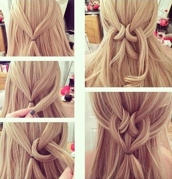 Сердечко на волосах
