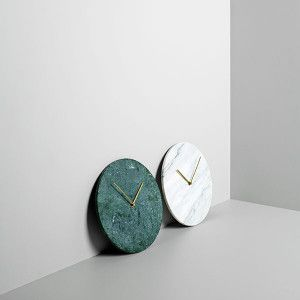 Decorative, uncomplicated and made from natural honest materials, Marble Wall Clock is an elegant object that helps you keep up, while looking back. Designed by Norm Architects. http://www.wgu.com.au/product/marble-wall-clock/  #homedecor #interiordecor #homeinterior
