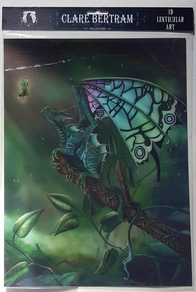 Brand New Licensed 3D Lenticular Art Clare Bertram A Celtic Secret Dragon Print