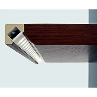 39.4 in. Medium Density Fiberboard Mounting Channel - 45 - MDF LED Profile - For LED Tape Light - Klus 0973