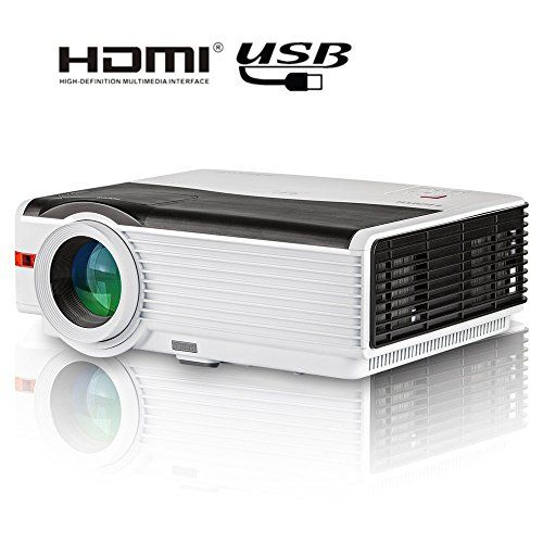 Cheap CAIWEI Projector HD LED LCD HDMI Home Cinema Projector WXGA 1280x800 Resolution 1080P 720P Home Entertainment Projector HDMI USB VGA AV Movie Game Art Projector for iPhone iPad Mac Pro PC Laptop PS4 Smartphone Xbox Android TV Box Tablet Best Selling