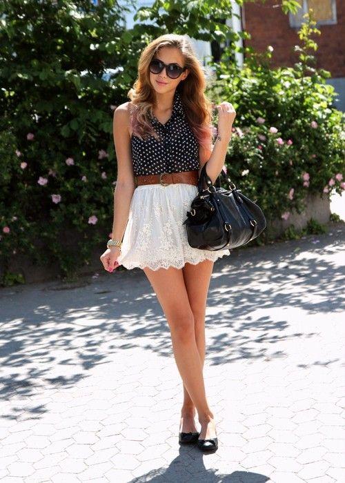 Short skirts can make those not so long legs appear longer.