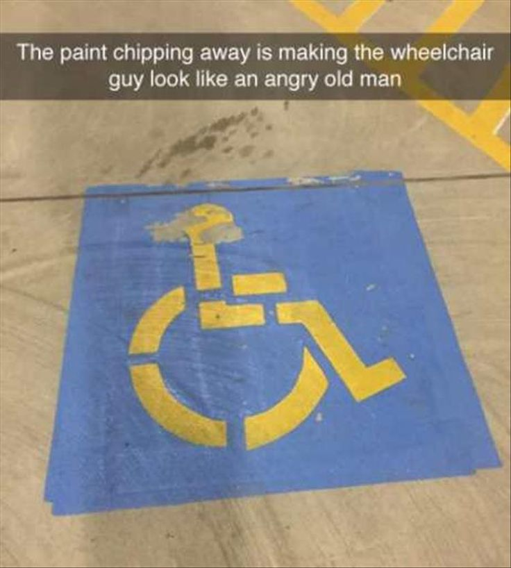 Homer Simpson Meme: The paint chipping away is making the wheelchair guy look like an angry old man